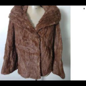 Vintage Mink Fur Crop Bolero Jacket